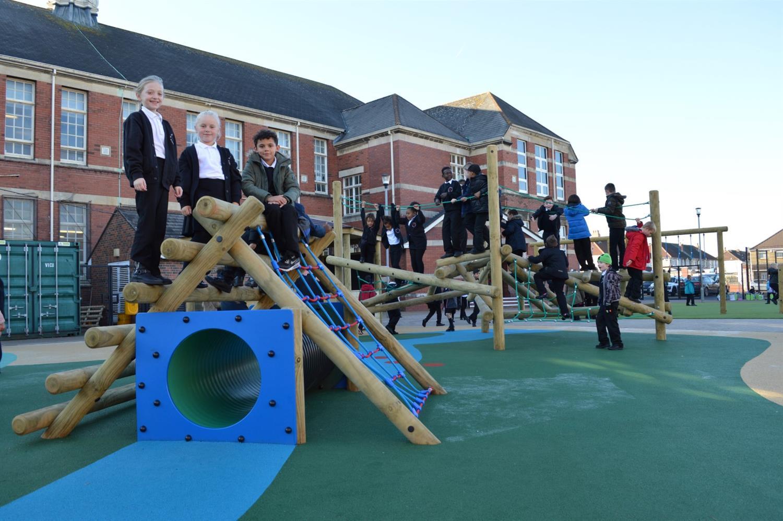 St Andrew S Huge School Playground Development Pentagon Play