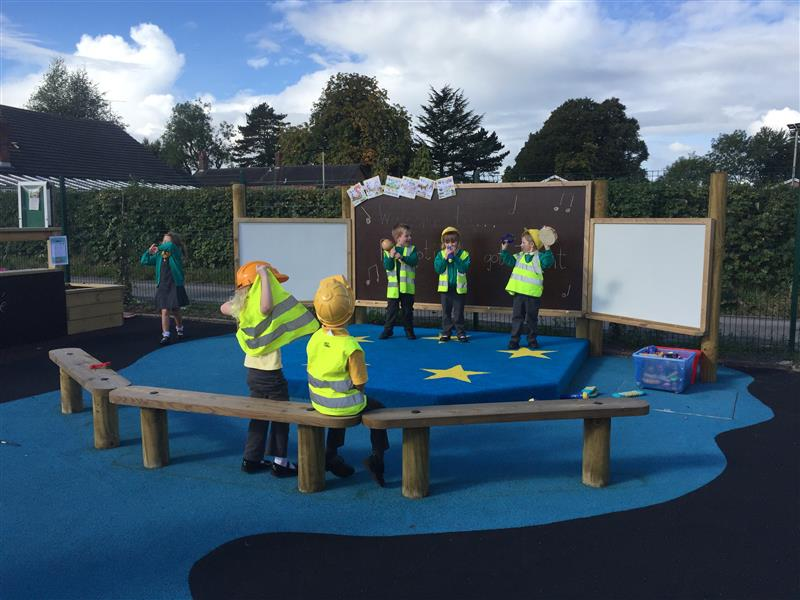 outdoor performance stage eyfs