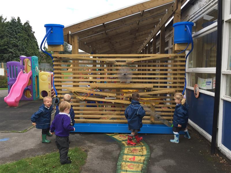 Water Wall - school playground equipment