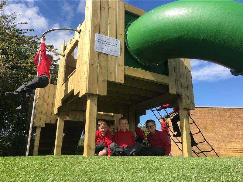 outdoor play castle for school