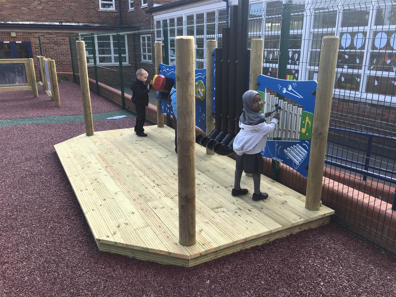 Paganel Primary School S Outdoor Classroom Pentagon Play