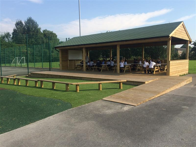 Outdoor Timber Canopy For Schools