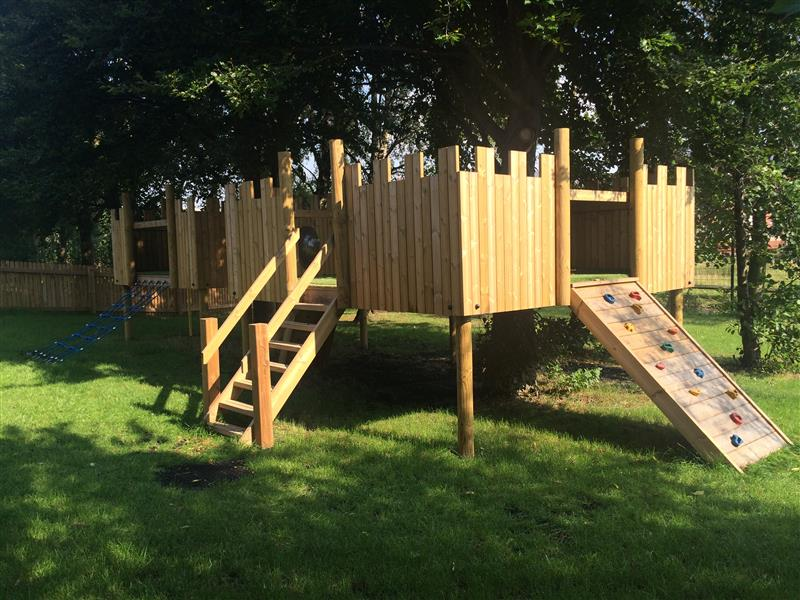 Outdoor Timber Play Castle