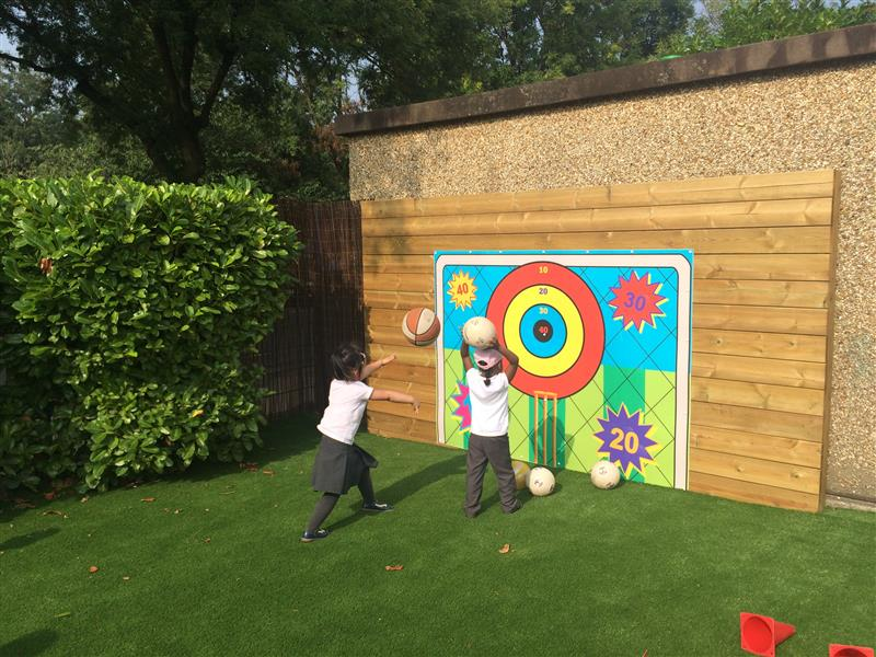 playground ball target area eyfs