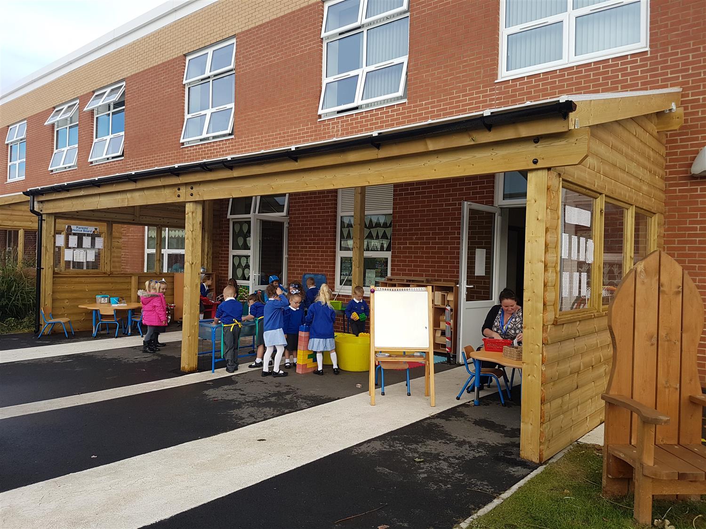 Barnard Grove Primary S School Canopies Pentagon Play