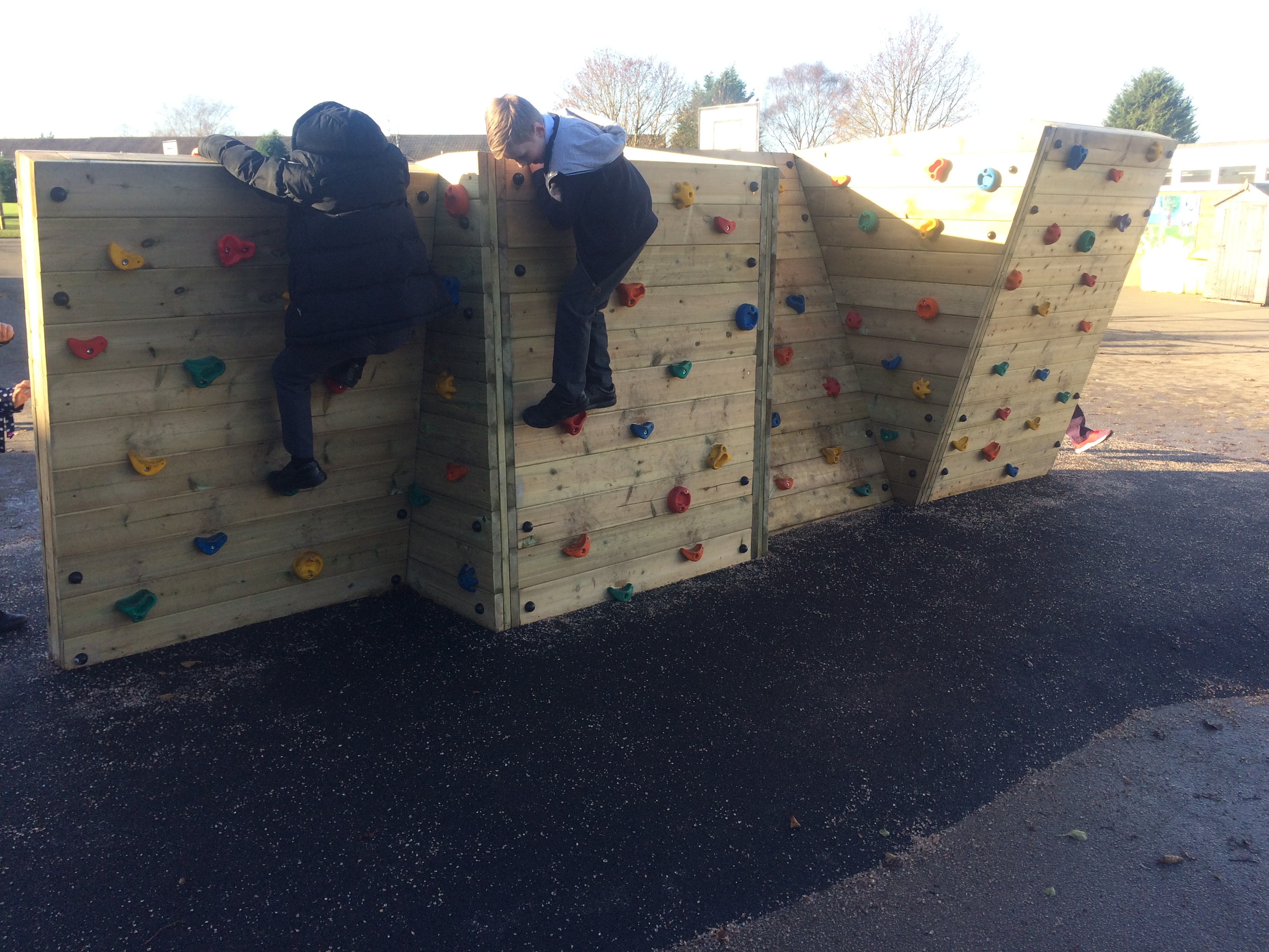 climbing wall for schools