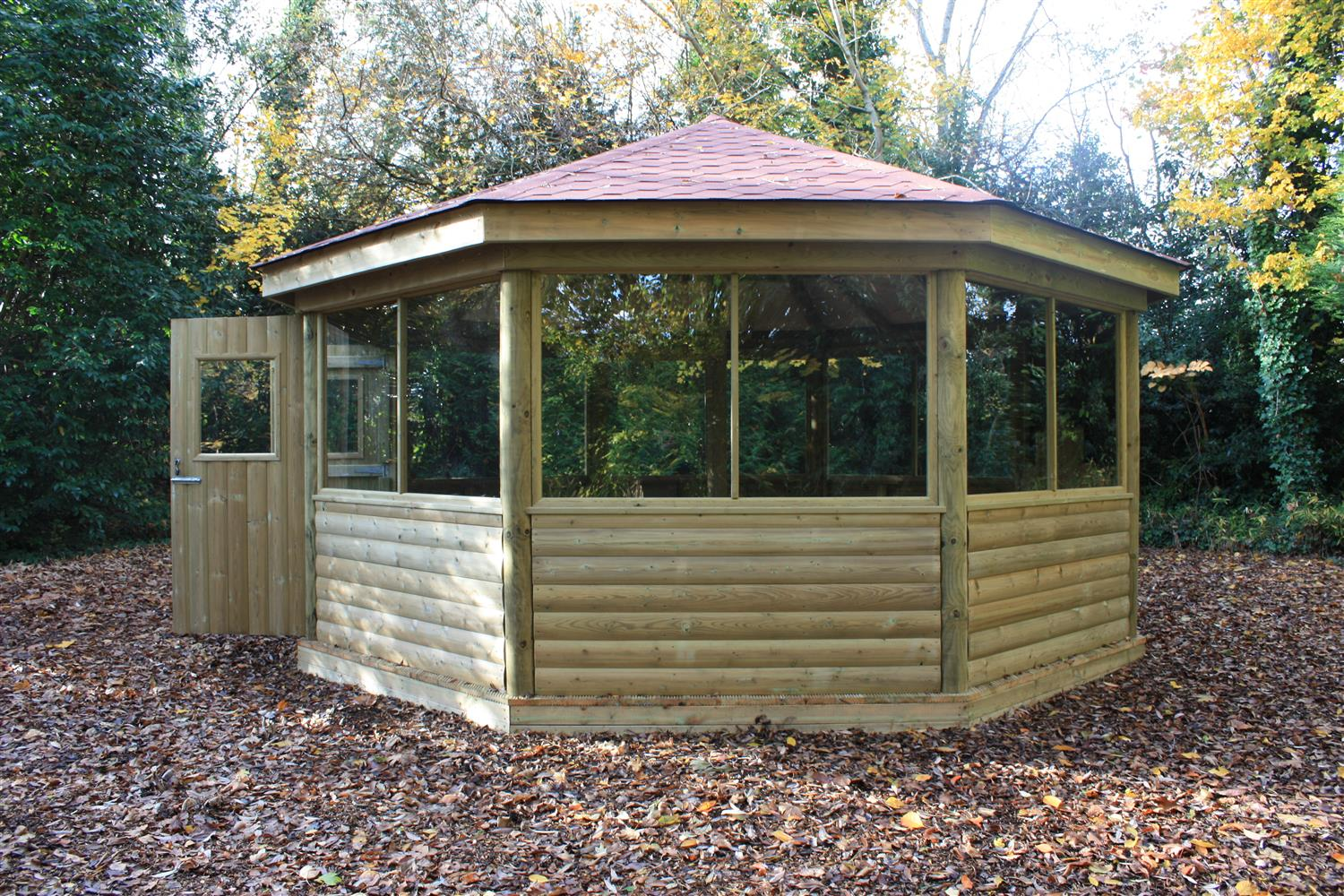 Swaythling primary school 39 s outdoor classroom pentagon play for Large wooden gazebos