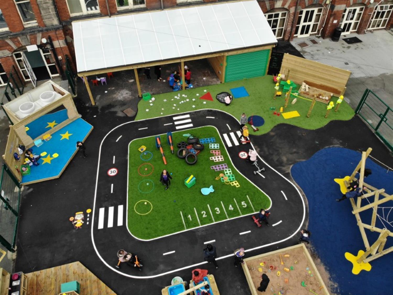 Hillcrest Academy S Eyfs Playground Development Pentagon