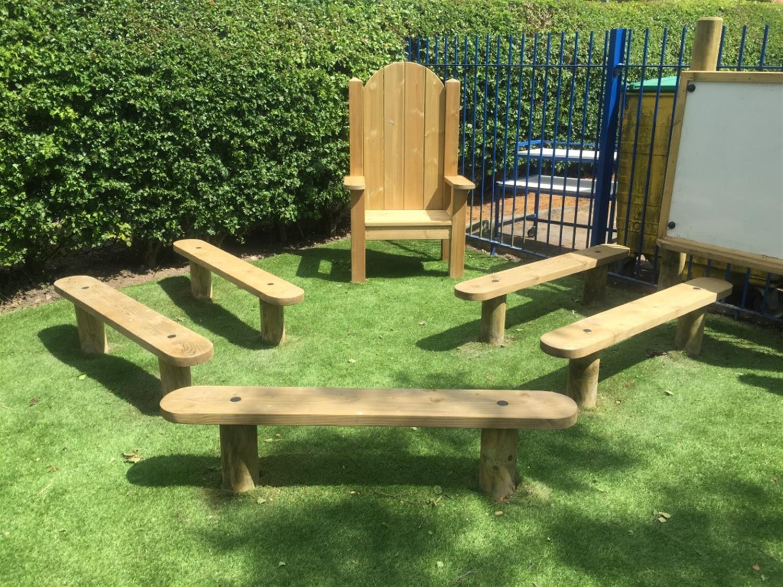Long Marston Va Primary School Eyfs Playground Pentagon Play