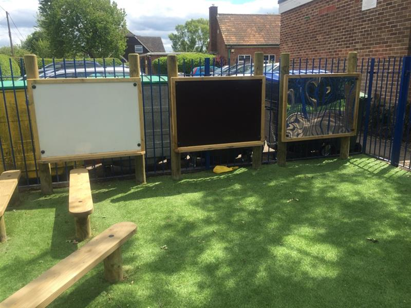 Activity Play Panels for mark making