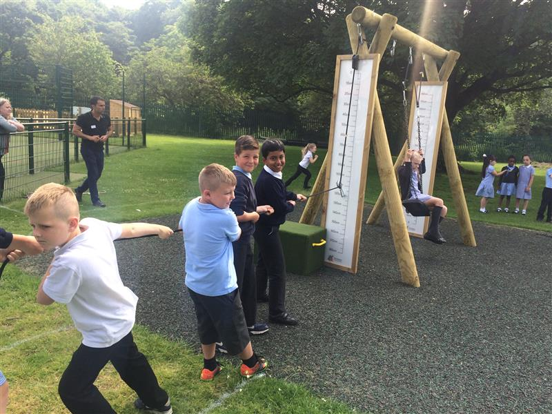 Pulley System School Playground Experiment