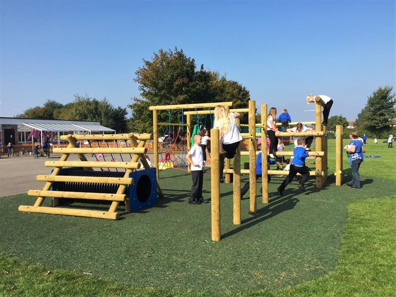 Severn Beach Primary's new school play equipment