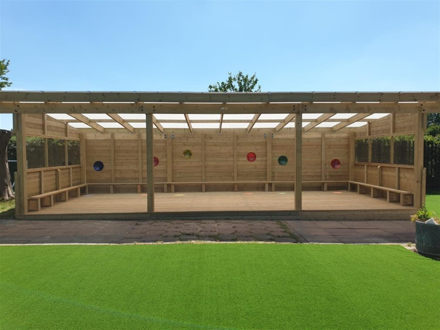 An outdoor classroom on a school playground