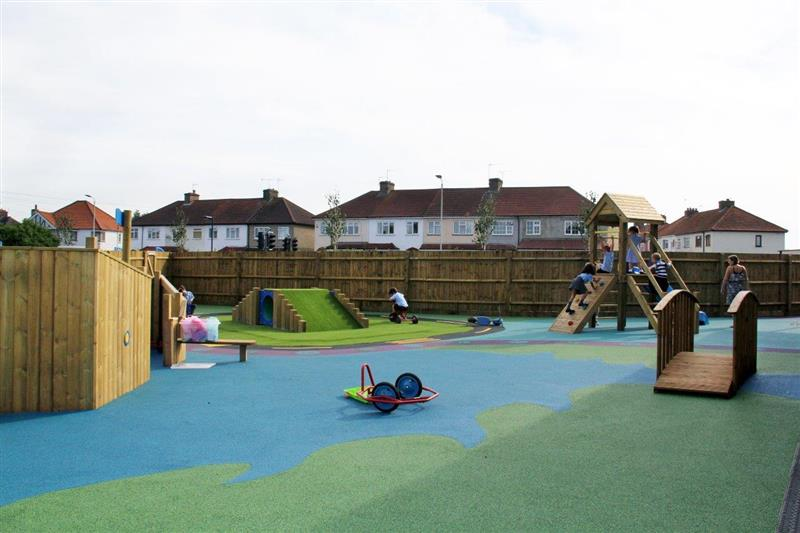 Pentagon Play playground development Forres Primary