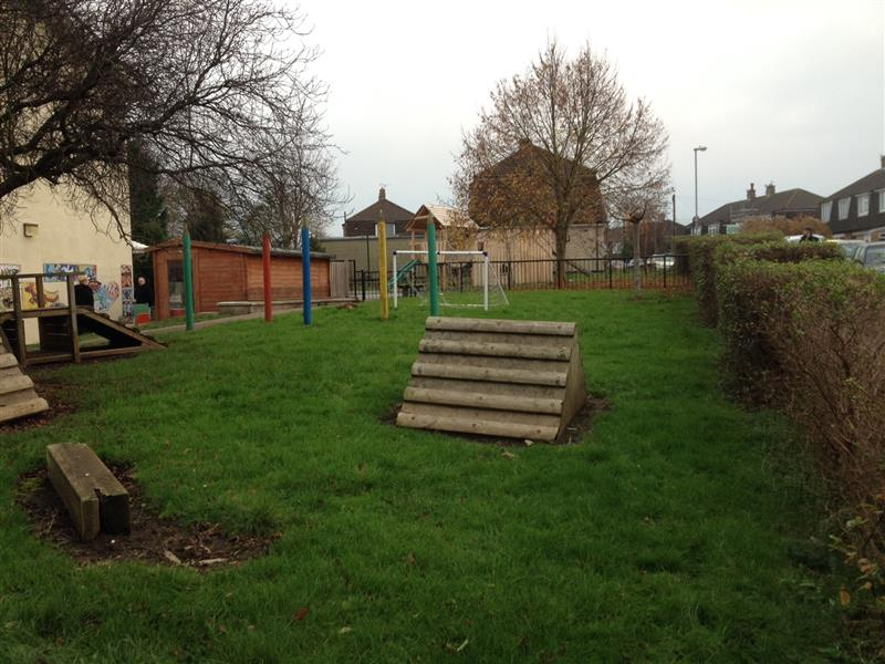 St Teresa's EYFS Playground before development