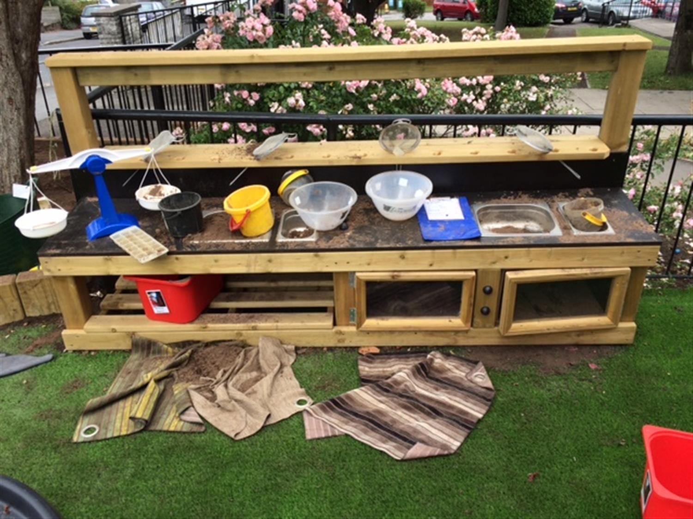 Mud Kitchen Ideas Eyfs.St Teresa S Bristol Eyfs Playground Pentagon Play