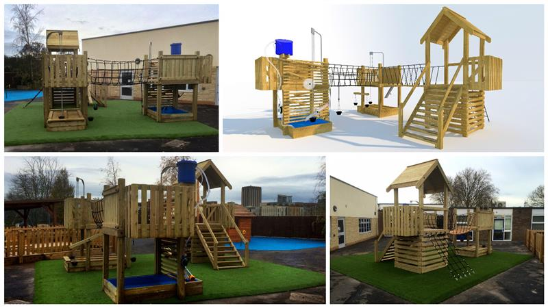 Investigative Play Tower - School Playground Equipment
