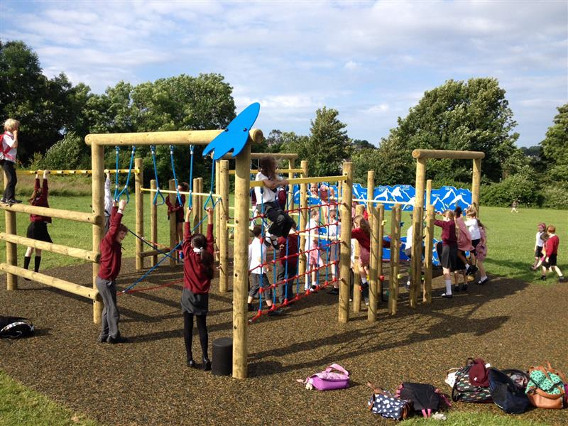 wooden climbing frame for schools