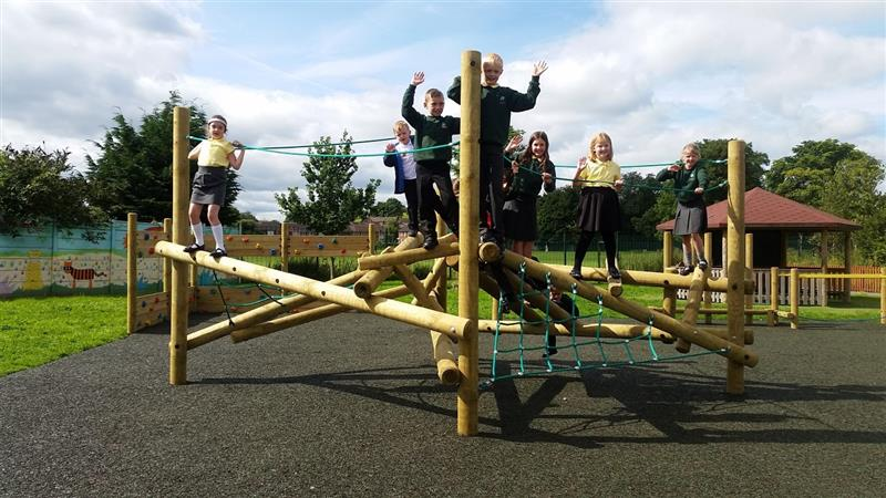 Pentagon Play Active Log Frame Climber