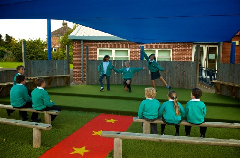 Outdoor School Stage Performance