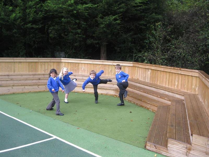 Performance stage for school playgrounds