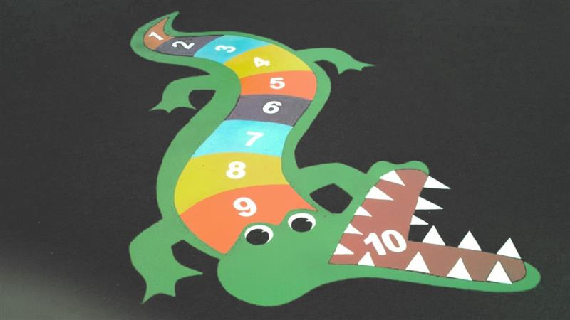 Playground Markings - Crocodile 1-10