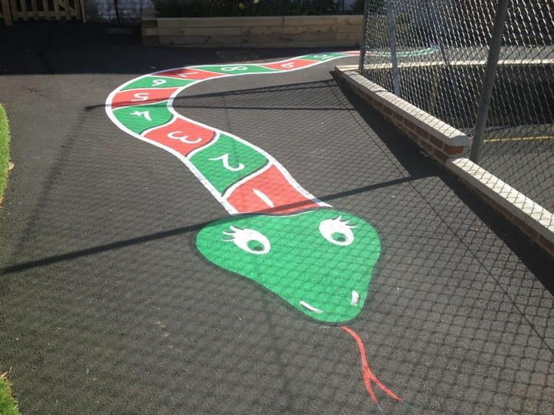 Playground Markings snake design for schools