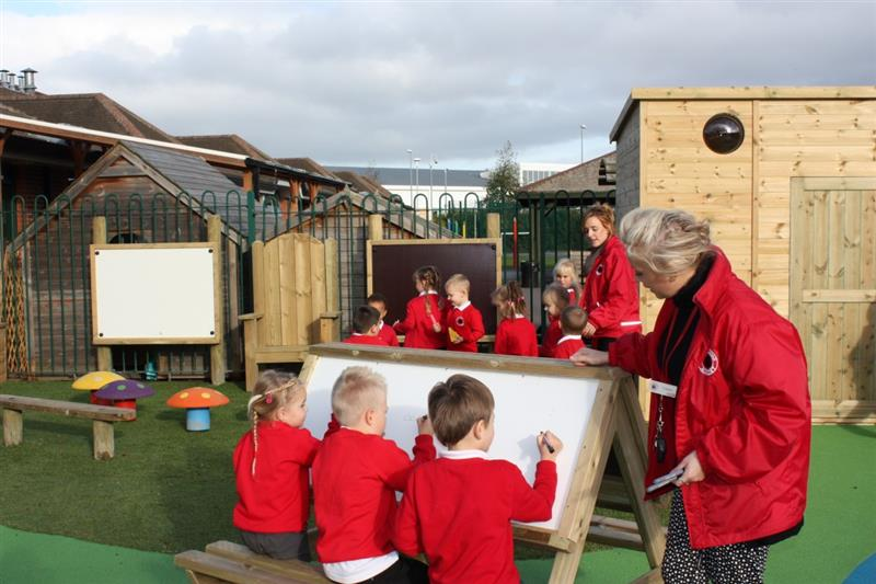 Easel Table for outdoor drawing in your school playgound