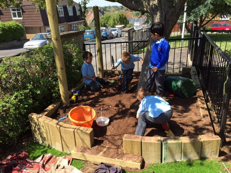 Dig Pit for EYFS Outdoor Learning Environments