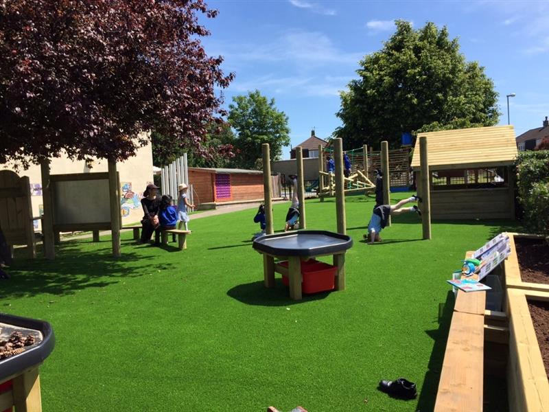 Playground environment that facilitates inclusive play