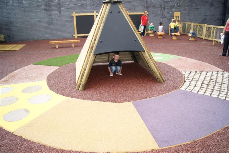 Wetpour surfacing is ideal for children in wheelchairs