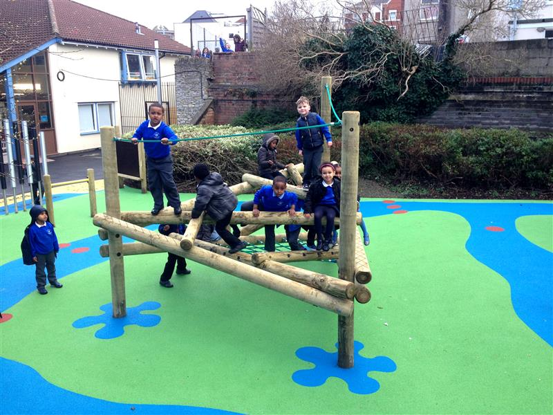 Log Frame Climber - Ideal playground equipment for outdoor play
