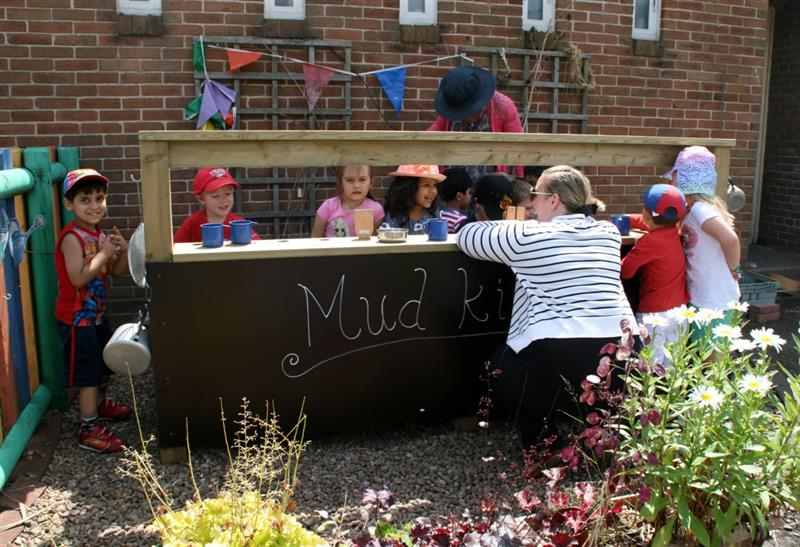 A Mud Kitchen ideal for baking lesson incorporating heavy work activities