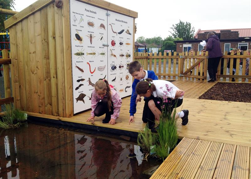 Our Wildlife area is ideal for creating sensory play on your school playground