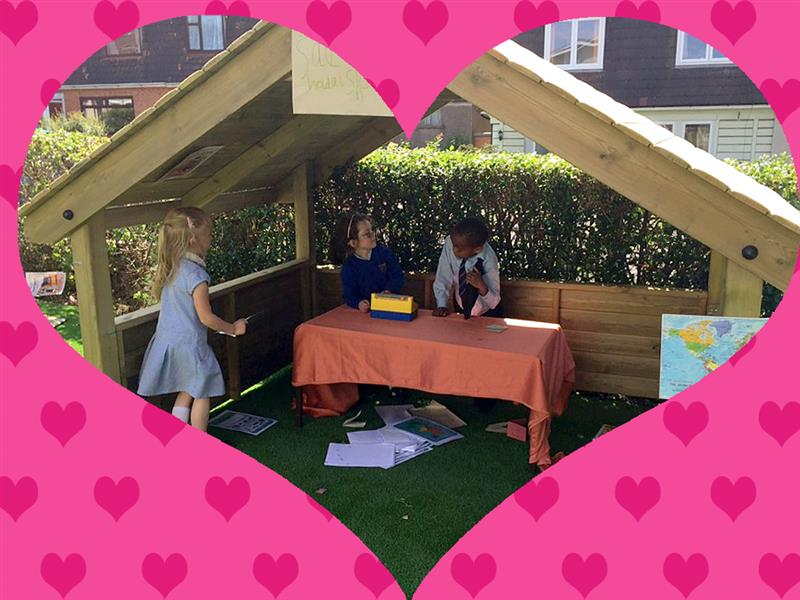 School Playhouse can be used for valentines day outdoor learning