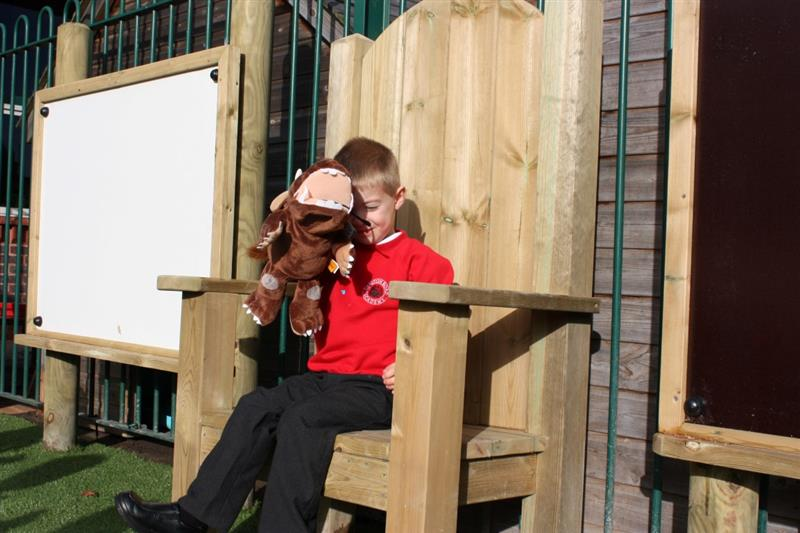 Story Telling Chair for EYFS playgrounds