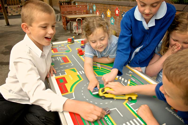 Picnic Table with Playtown gametop - ideal for EAL children