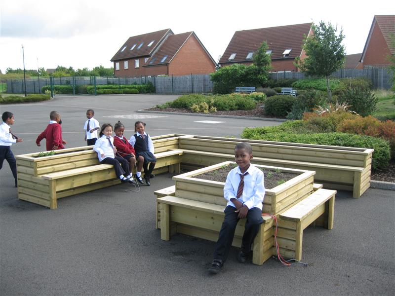 School Playground Seating - Planter Bench