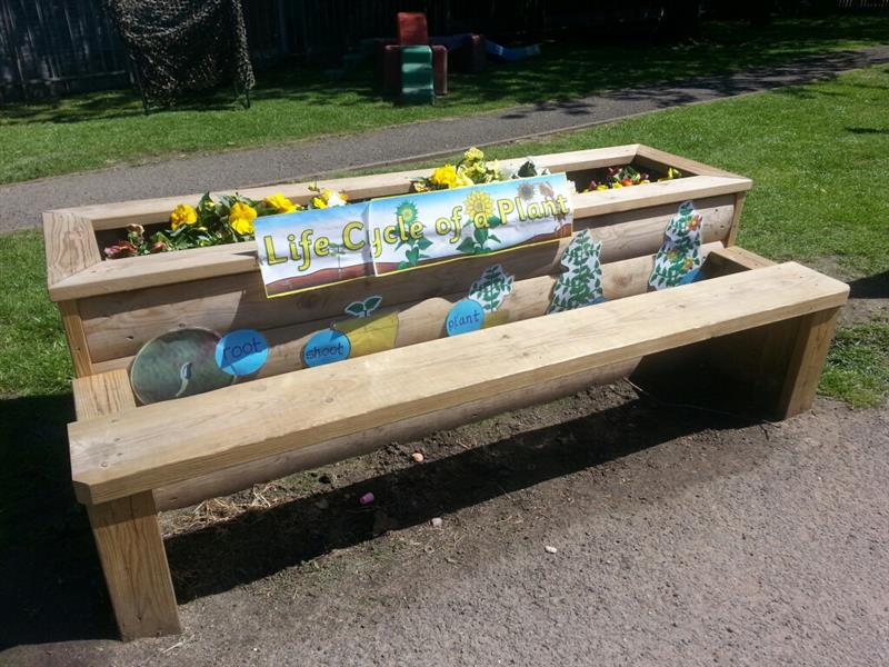 Planter Bench for school playgrounds - Pentagon Play