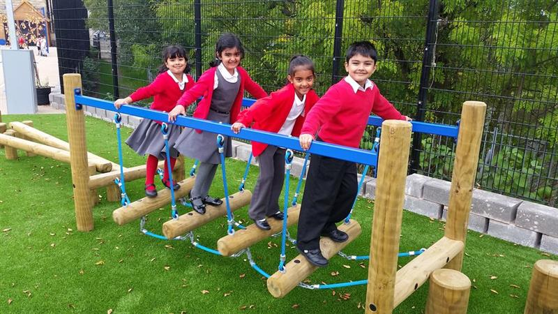 Wobbly Bridge for school playgrounds