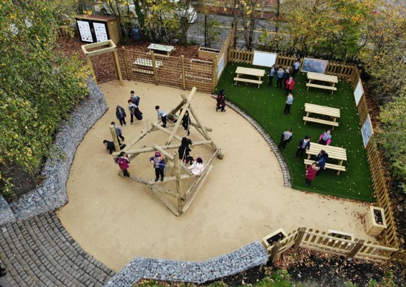 Outdoor playground surfacing