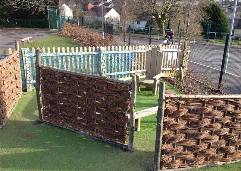 outdoor playground fencing