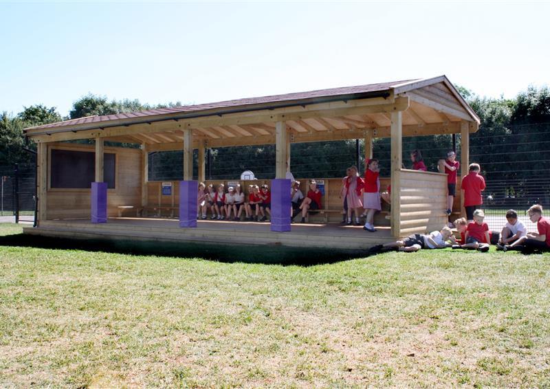 gable end outdoor clasroom