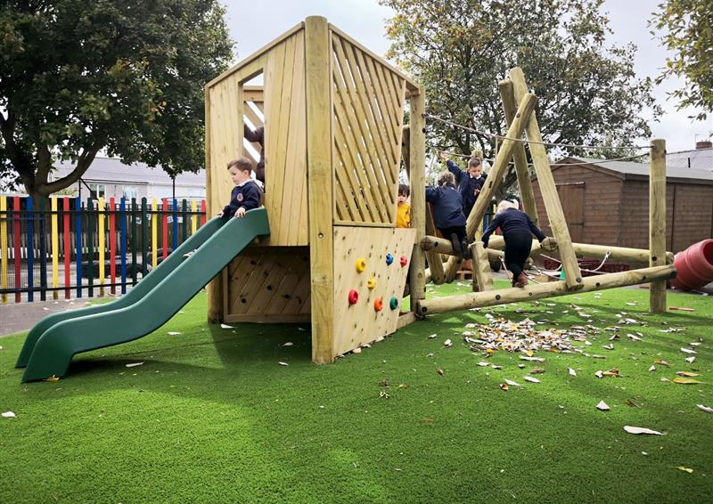 Climbing frames with slides for eyfs