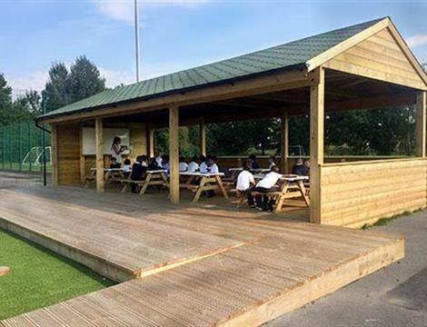 Gable-End Outdoor Classrooms For Schools