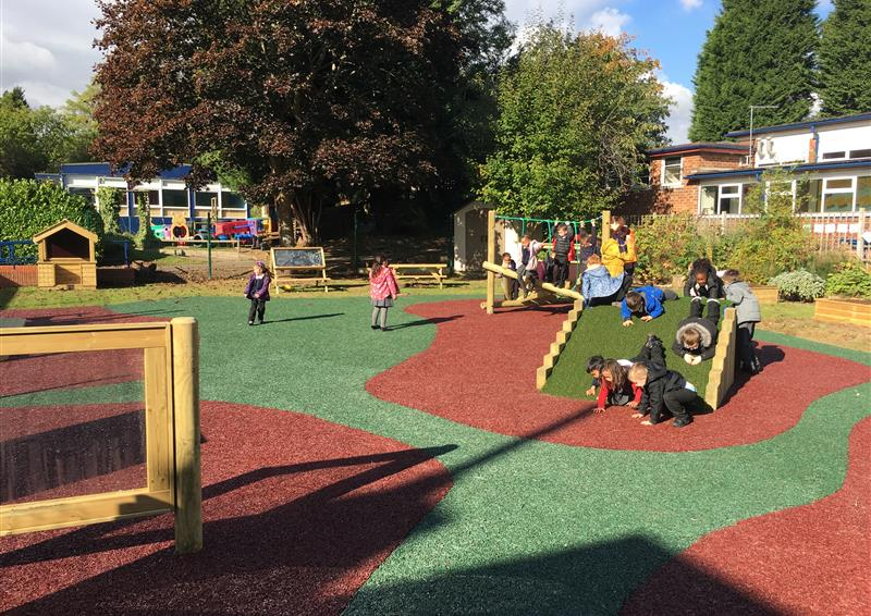 playbond rubber bark chippings