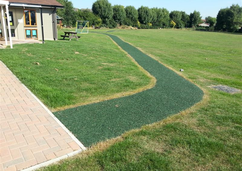 playbond rubber chippings surfacing