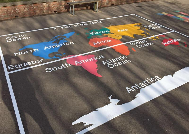 thermoplastic markings for schools