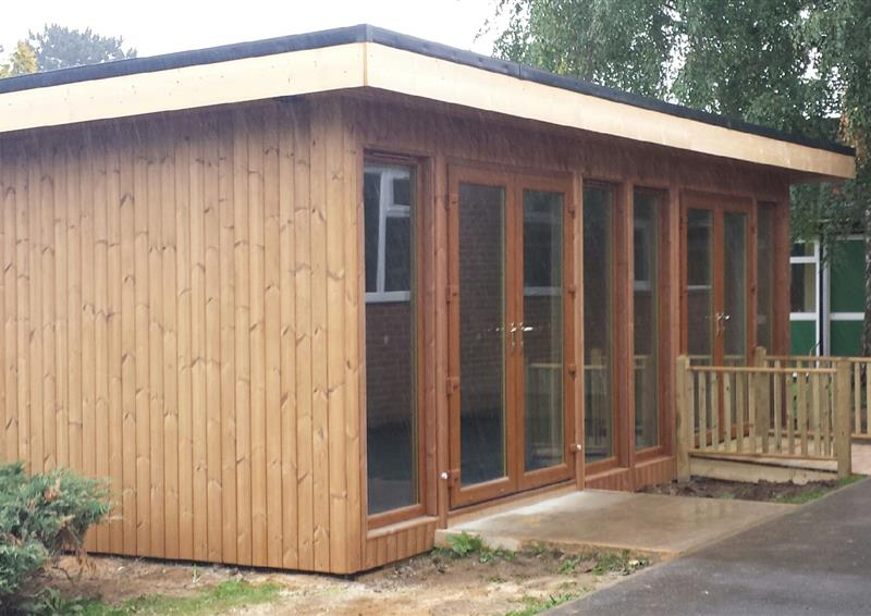 Outdoor timber lodges