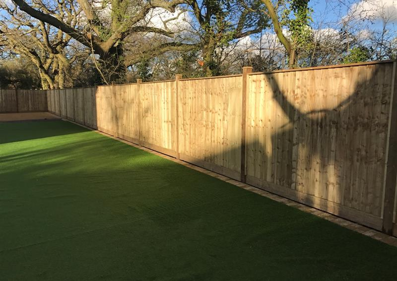 wooden security fencing for schools